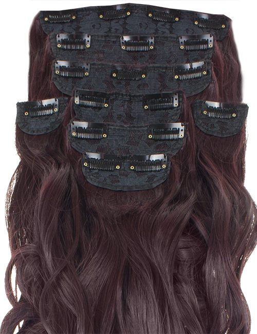 Eight Pieces Curly Clip in Extension Heat Resistant Hair Extensions Synthetic Hair