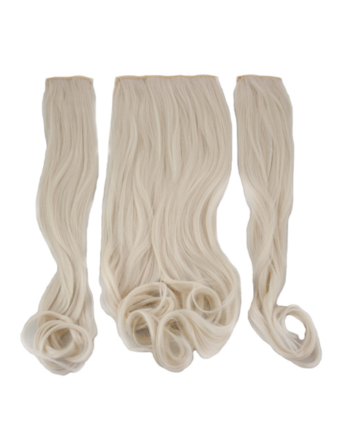 Three Pieces Curly Clip in Extension Heat Resistance Synthetic Hair