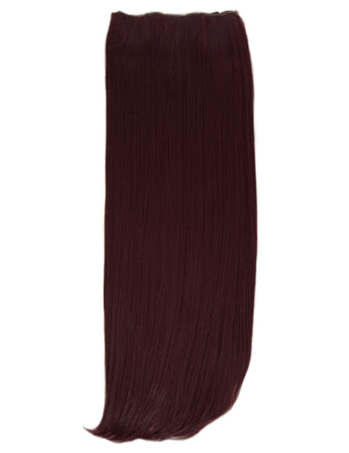 One Piece Straight Clip in Extension Heat Resistance Synthetic Hair