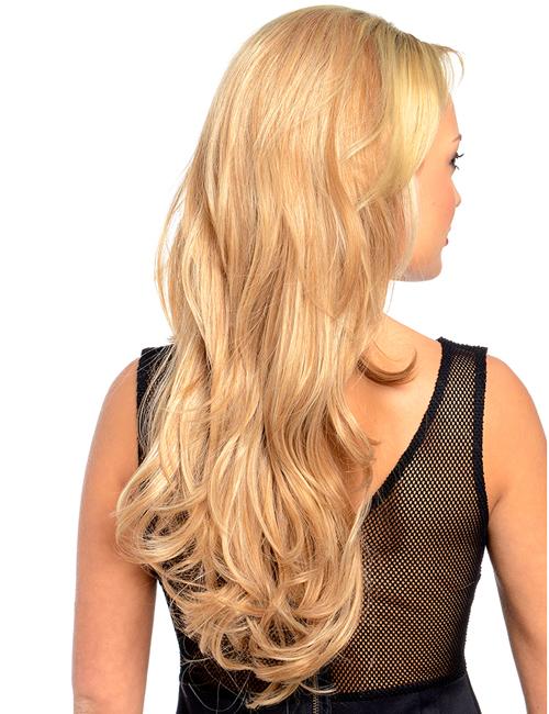 Emma Long wavy synthetic half head wig