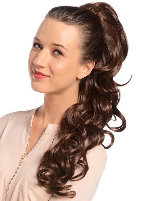 Molly Long Curl Drawtring Ponytail