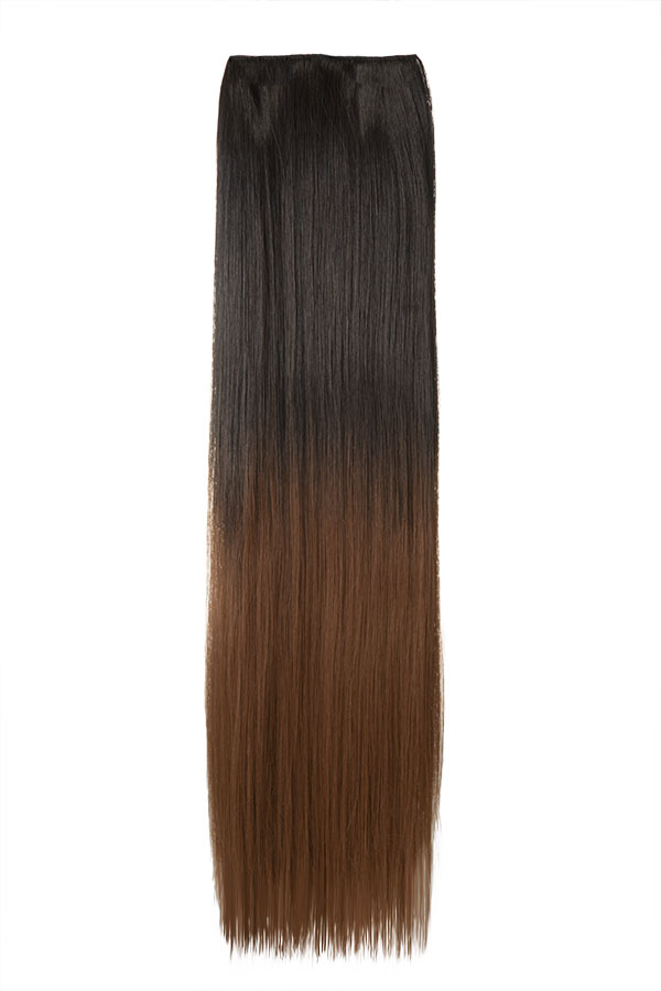 Ombre Straight One Weft Clip In Dip Dye Extension - G1002C