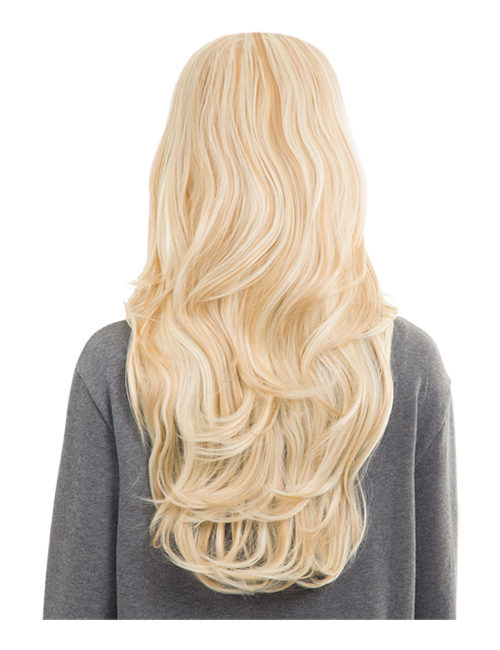 Emma Long wavy synthetic half head wig