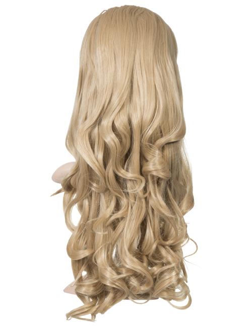 Eva Loose Curl Synthetic half head wig - G1253 - Caramel Blonde 18/24
