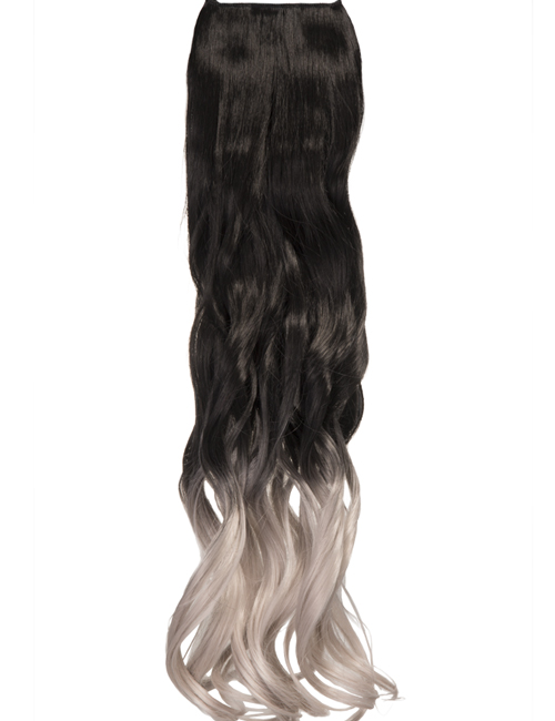 Ombre Curly One Weft Clip In Dip Dye Extension