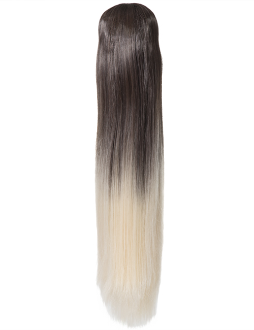 Dip Dye Straight Claw clip Ponytail
