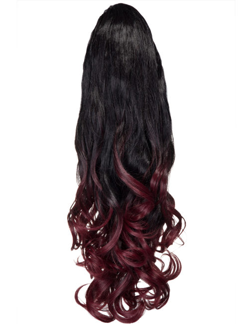Curly Claw Clip Dip Dye Ponytail