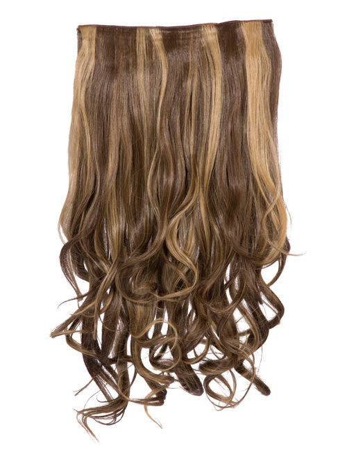 Highlight - One Piece Curly Clip in Extension Heat Resistance Sythetic Hair