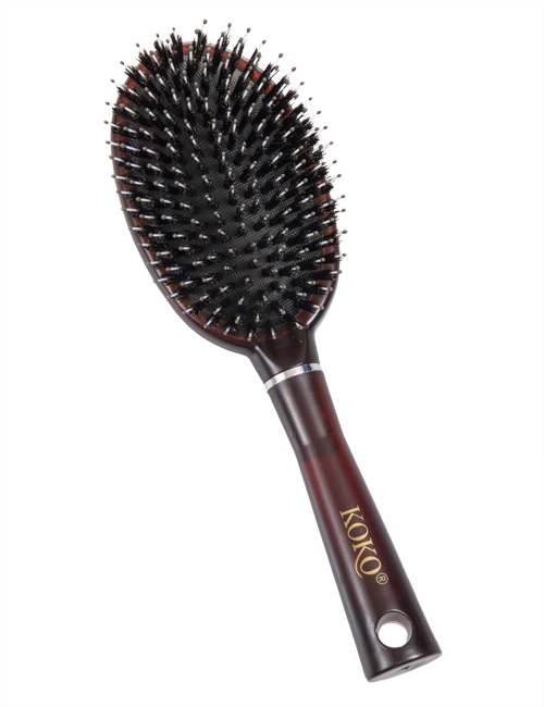 KOKO natural bristle hair brush