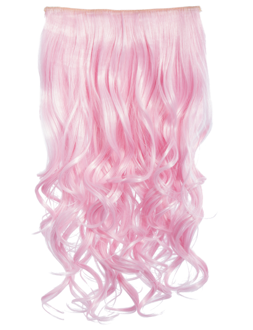 Coloured Curly clip in extensions heat resistant synthetic hair