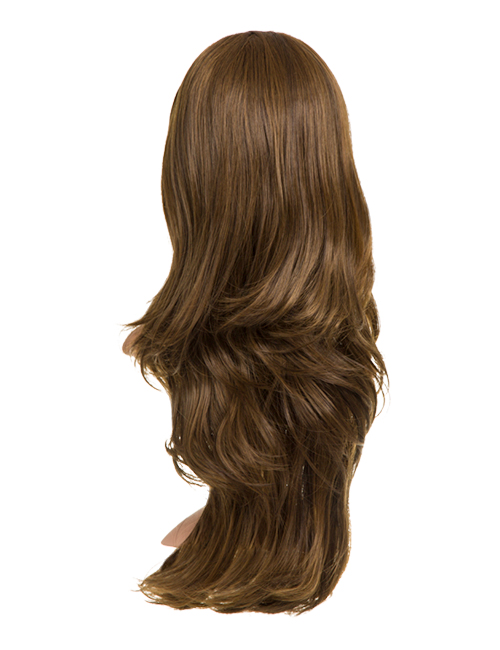 Chloe Long natural wavy synthetic half head wig