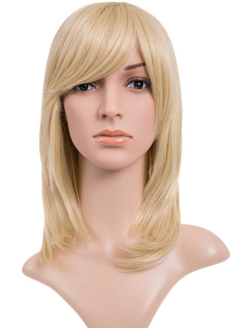 Alice - Medium length Straight Layer cut full head wig