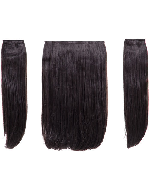 "Elle - 18"" Three Pieces Straight Clip In Extension Heat Resistant Synthetic Hair"