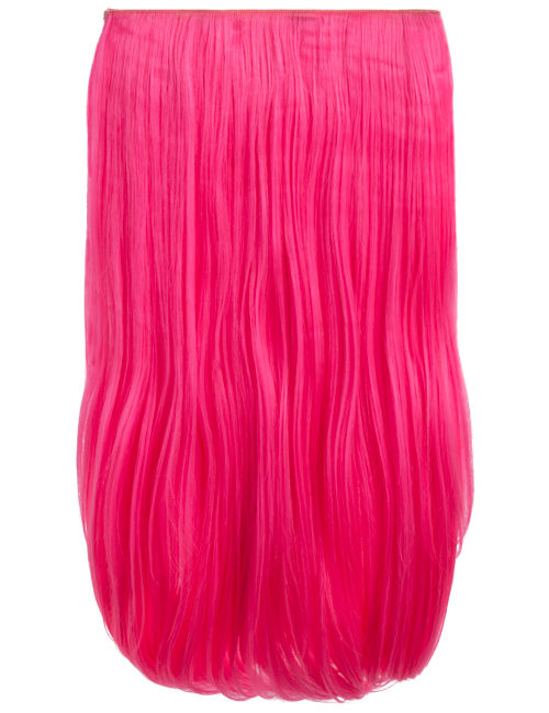 Coloured Straight clip in extensions heat resistant synthetic hair