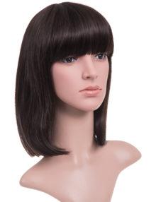 Nichole Longer length full fringe Bob full head wig