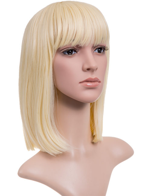 Nichole Longer length full fringe Bob full head wig