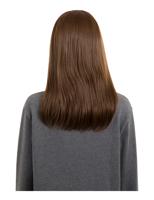 Anne Medium Length straight half head synthetic wig