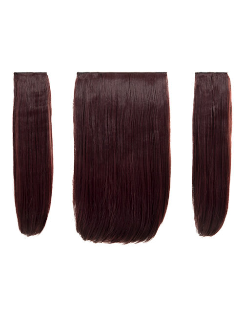 Three Pieces Clip in Extension Heat Resistance Synthetic Hair