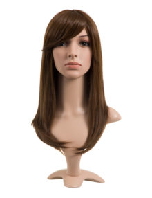 Natalie Natural Straight Side Fringe Synthetic Full Head Wig - KOKO HAIR