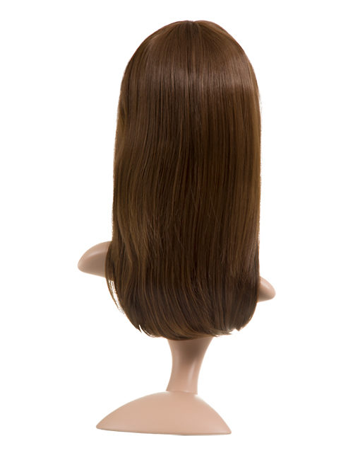 Natalie Natural Straight Side Fringe Synthetic Full Head Wig