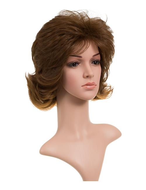 Zoe Short Layered Full Head Synthetic Wig - KOKO HAIR