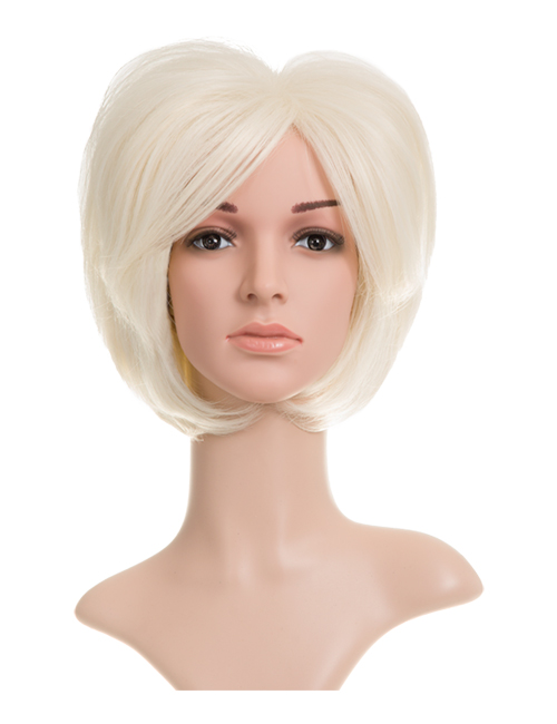Lucy Natural Short Synthetic Full Head Wig