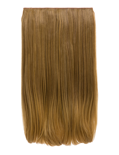 "Dolce - 18"" One Piece Straight clip in extension heat resistant synthetic hair"