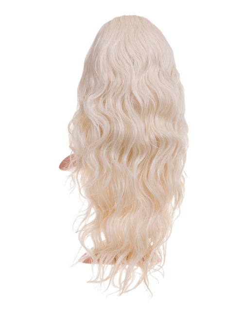 Grace Beach wave Synthetic Half head wig - G1078 - Bleach Blonde 60