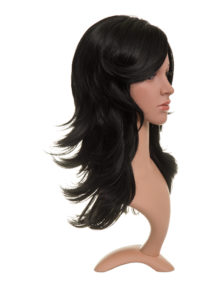 Monica free parting flicky synthetic full head wig