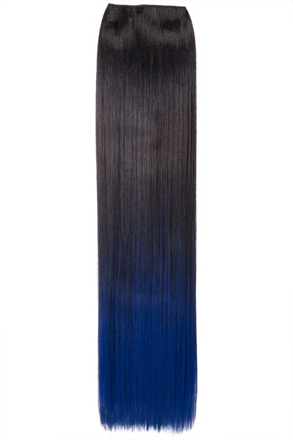 Ombre Straight One Weft Clip In Dip Dye Extension - G1002C - 4TT4027 (Dark Blue)