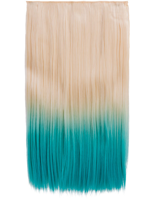Ombre Straight One Weft Clip In Dip Dye Extension