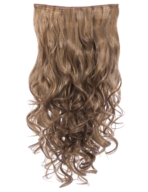 KOKO COUTURE Lena-Highlight 3 Weft Curly 22″ Hair Extensions (RRP: £19.99) - M27X/M30 Toffee Brown
