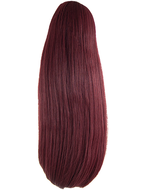 Pearl Claw Clip Reversible Ponytail - GW06 - Burgundy 118