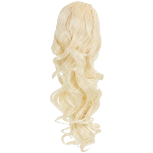 Blossom Curly Drawtring Ponytail - 1589B - Bleach Blonde 60