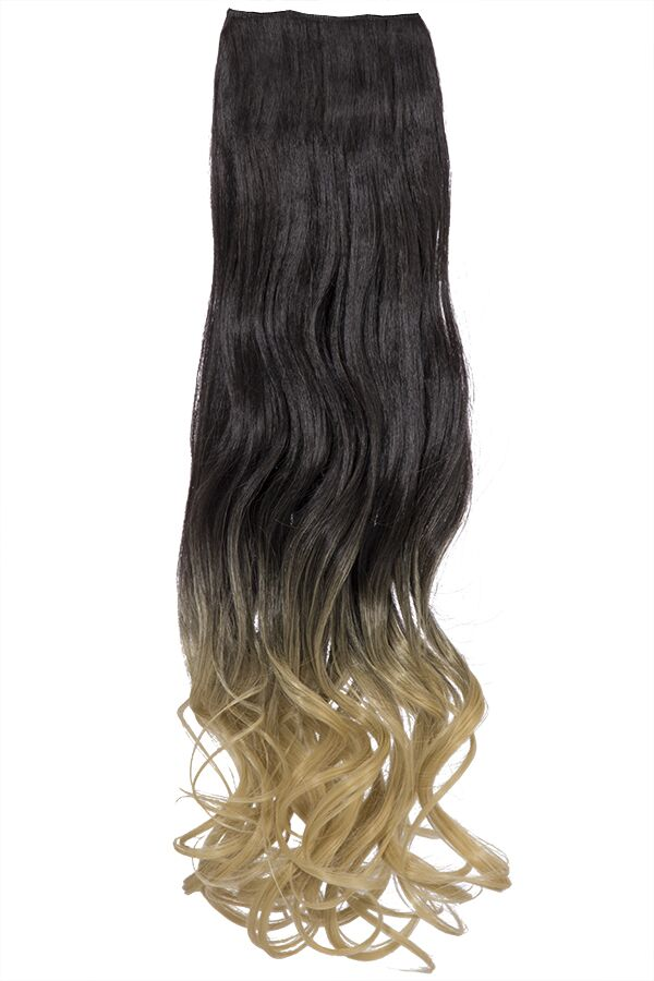 Ombre Curly One Weft Clip In Dip Dye Extension - G1007L - 2TT86