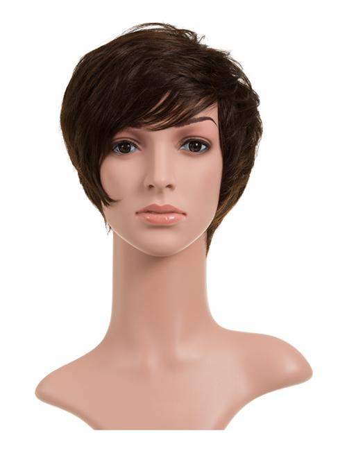 Anne Human Hair Full Head Wig - Raven 2