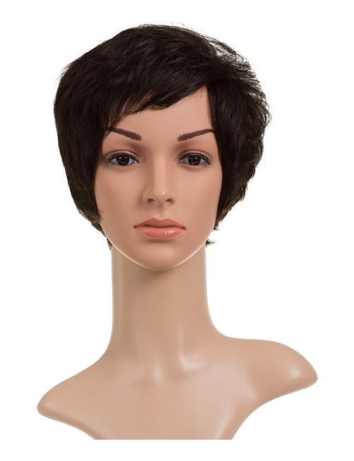 Sarah Human Hair Full Head Wig - Natural Black 1B